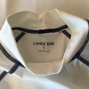 Boys Lands End Swim Suit Shirt Size Small .